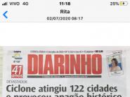 UM CICLONE ATINGIU A REGIÃO DE BALNEÁRIO CAMBORIÚ